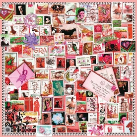 Blush Stamps Small Silk Scarf