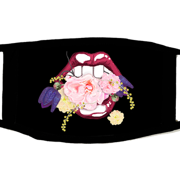Mouth in Flowers Mask