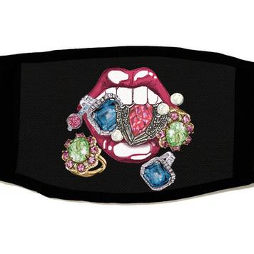 Mouth & Jewels Mask