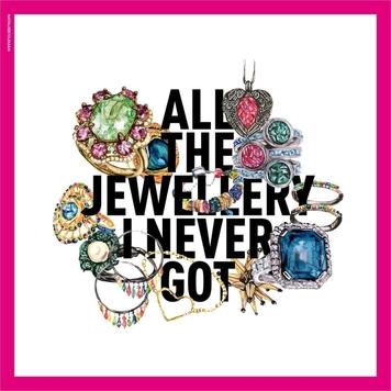 Magenta Jewellery Silk Scarf