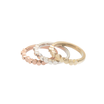 Flow 'Pebble' ring - Rose Gold