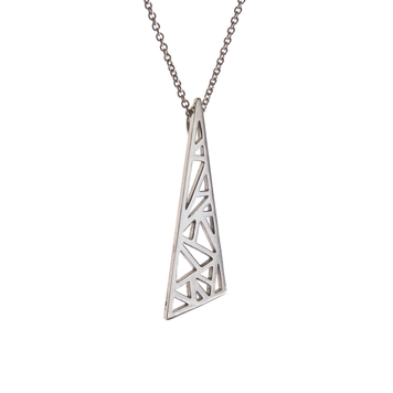 Flare Pendant - Sterling Silver
