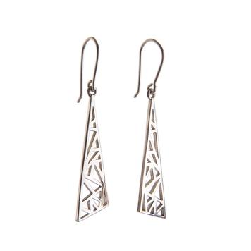 Flare Drop Earrings - Sterling Silver