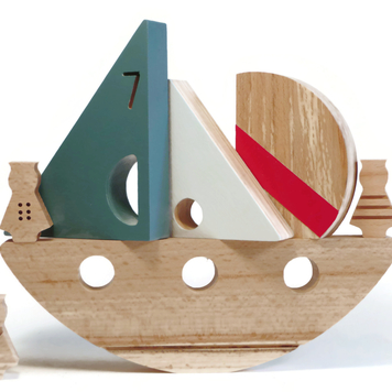 Painted Rocking Boat
