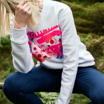 White Obsessive Sweater