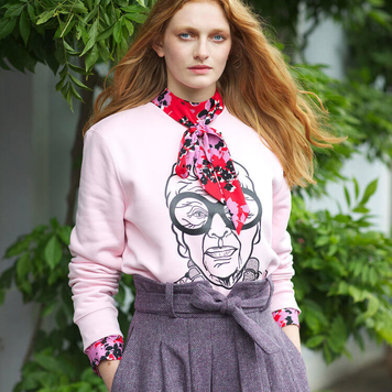 Pink Iris Sweater