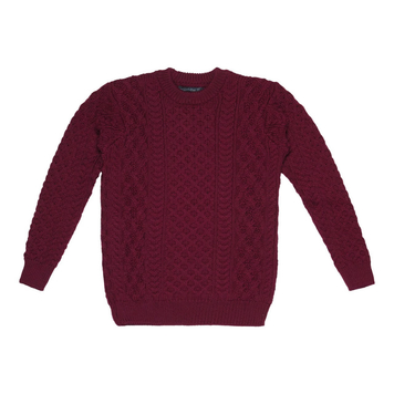 Blasket Honeycomb Stitch Mens Aran Sweater