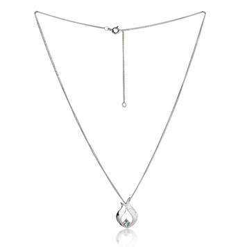 Ebb & Flow silver pendant with blue topaz