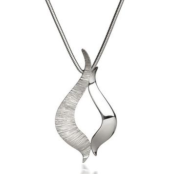 Ebb & Flow large silver pendant