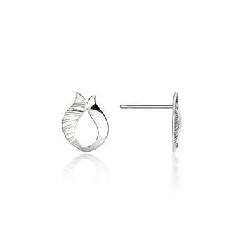Ebb & Flow silver stud earrings