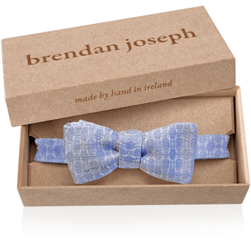 Linen and Silk Self-tie Bow Tie