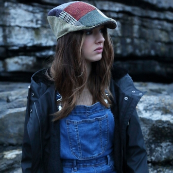 Donegal Touring Cap Patchwork Tweed