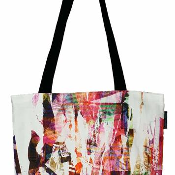 100% Cotton Art Bag - Cream & Pink