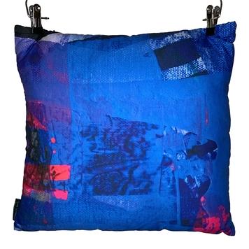 100% Organic Bamboo Cushion - Blue