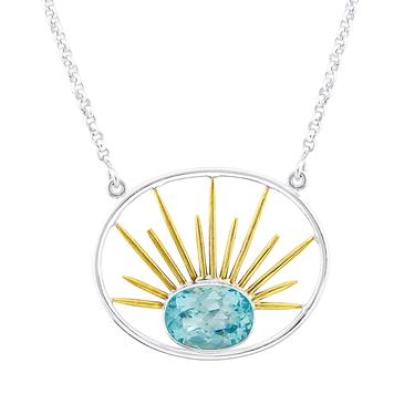 Goddess Necklace in Blue Topaz