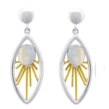 Goddess Earrings in Moonstone