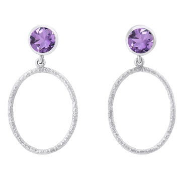 Lunar Earrings in Amethyst