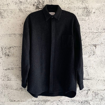 Black Wool Shirt