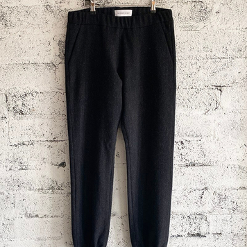 Black Tweed Trackpants