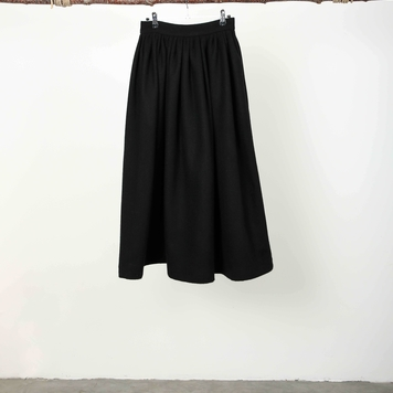 Black Herringbone Skirt