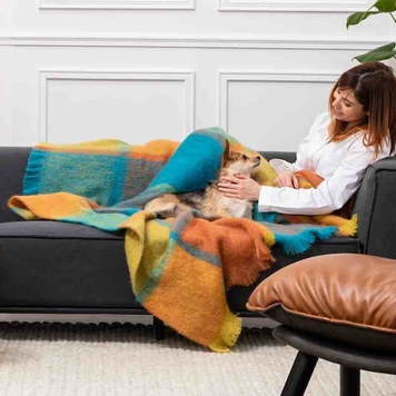Jewel Giant Mohair Throw