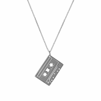 The Mixed Tape Pendant Silver