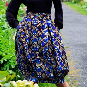 An Chros print bubble skirt