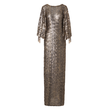 Antique Gold Sequin Gown