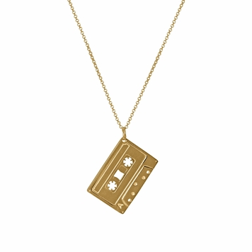 Mixed Tape Pendant - 18ct gold vermeil