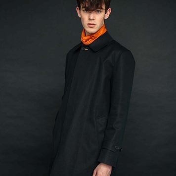 The Black Mack Coat for Men