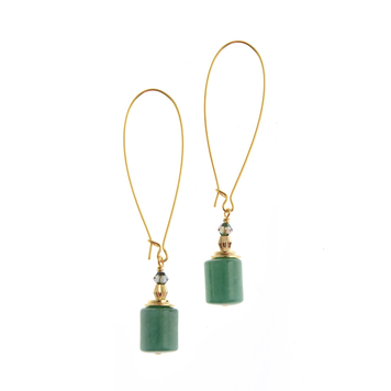 Wilde Emeralde Column Long Earrings