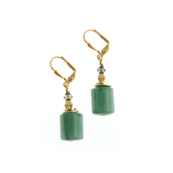Wilde Emeralde Column Short Earrings