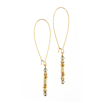 Wilde Emeralde Cuboid Long Earrings