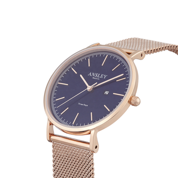 Three Rays Rose Gold Sapphire Blue (36mm) – 36B7S