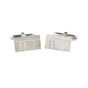 Ogham Oak - Oblong cufflinks