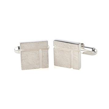 Ogham Birch - Square cufflinks