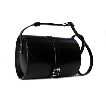 Black Curve Barrel Bag