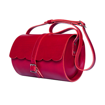 Red Scallop Barrel Bag