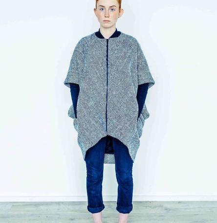 Handwoven Donegal Tweed Cocoon Coat