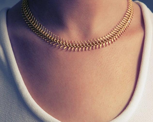 Ariel gold necklace 2 copy