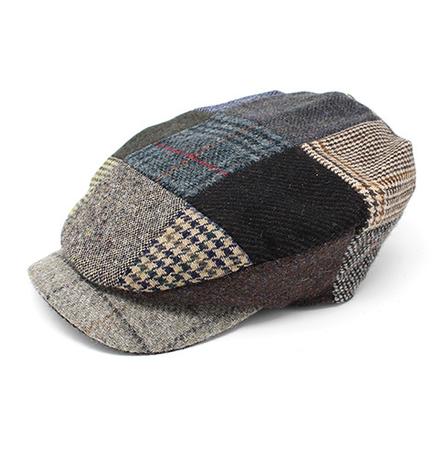 Daithi Cap Patchwork Tweed