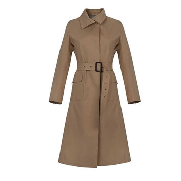 Olive Mack coat lined in Irish Linen