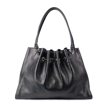 Black Siobhan leather tote bag