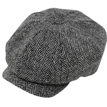Grey JP Tweed cap