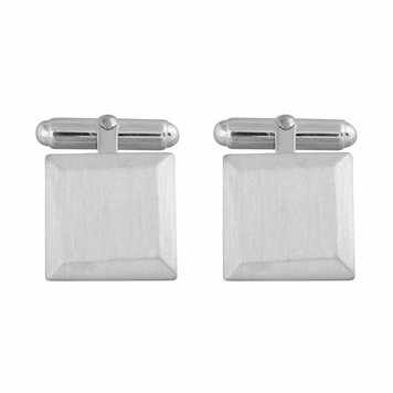 Bevelled Square Cufflinks in Sterling Silver