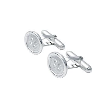 Button Cufflinks in Sterlings Silver