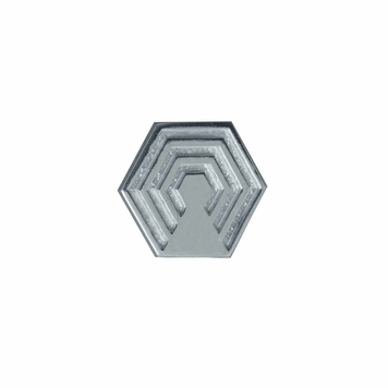 Hexagon Pin in Sterling Silver