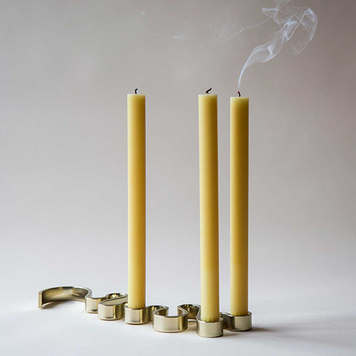 Brass Meander Candle Holder (5 Candle)