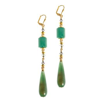 Wilde Emeralde Statement Earrings