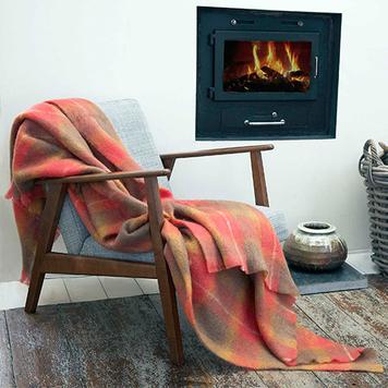Flame Mohair Throw Blanket